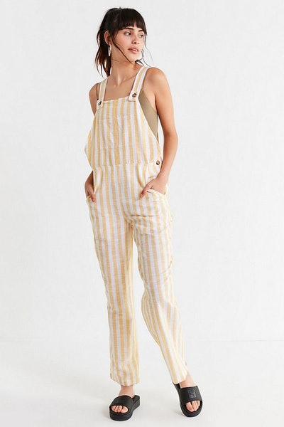 UO Allie Striped Button Overall