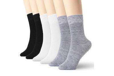 K-Lorra Women's Thin Cotton High Ankle Socks