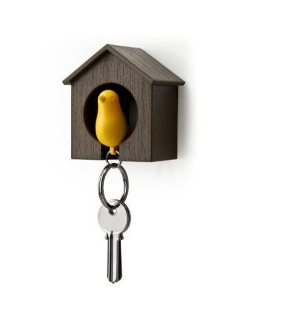 Eva Hand Painted Metal Bird House Bird House Elegant In Smell Green
