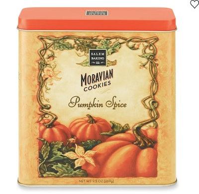 Pumpkin Spice Moravian Cookies