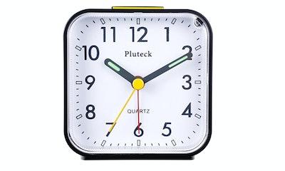 Pluteck Non Ticking Analog Alarm Clock