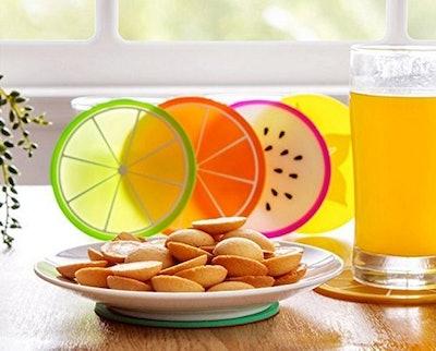 JASSINS Fruit Slice Silicone Coasters