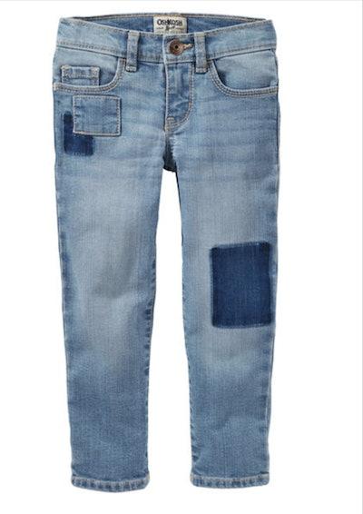 Girls' Skinny Patchwork Jeans