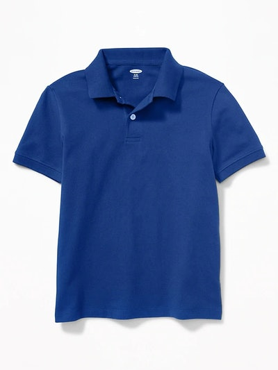 Built-In Flex Uniform Pique Polo