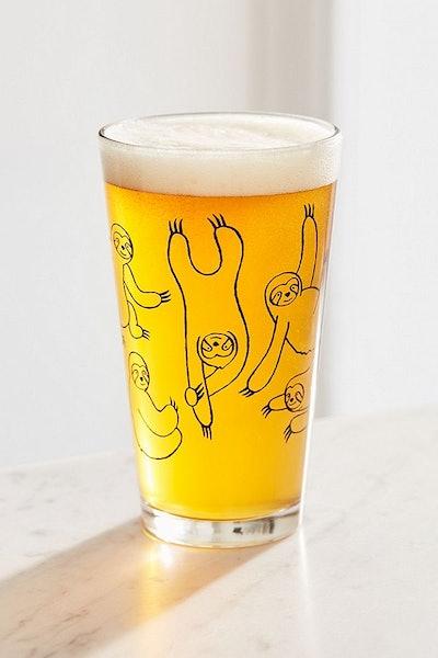 Sloth Pint Glass