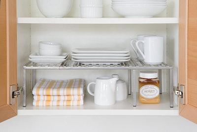 Seville Classics Expandable Kitchen Counter Cabinet Shelf