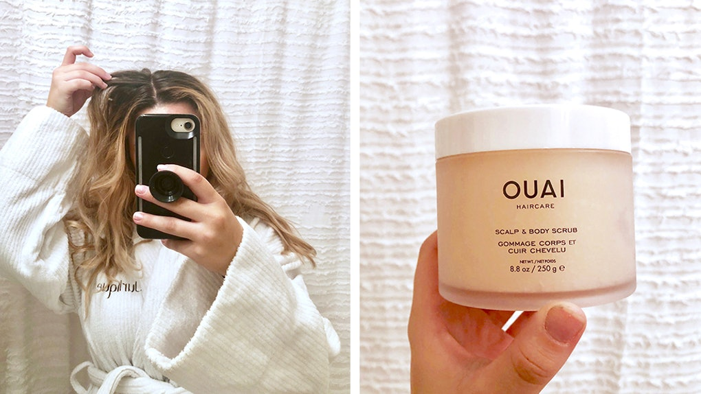 This Ouai Scalp + Body Scrub Review Proves Greasy Roots Can