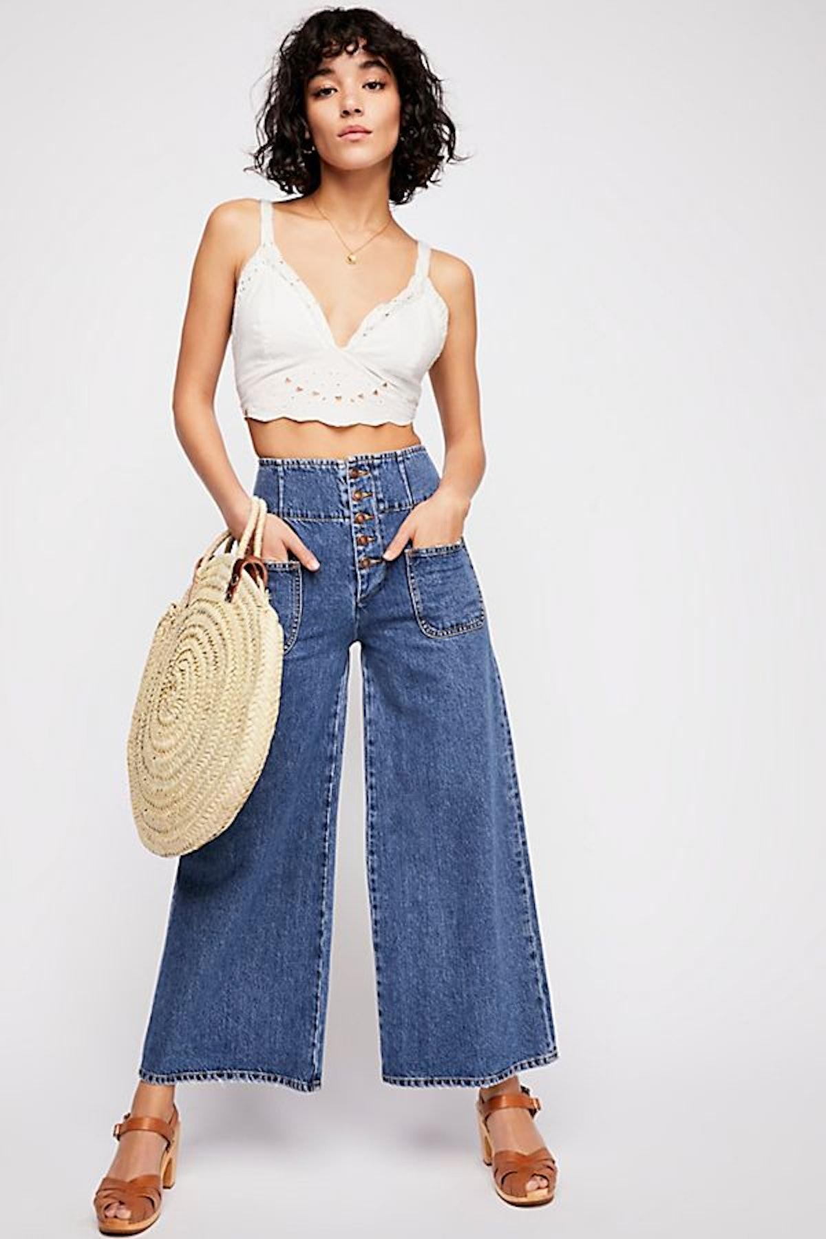 Wide Crop Jean