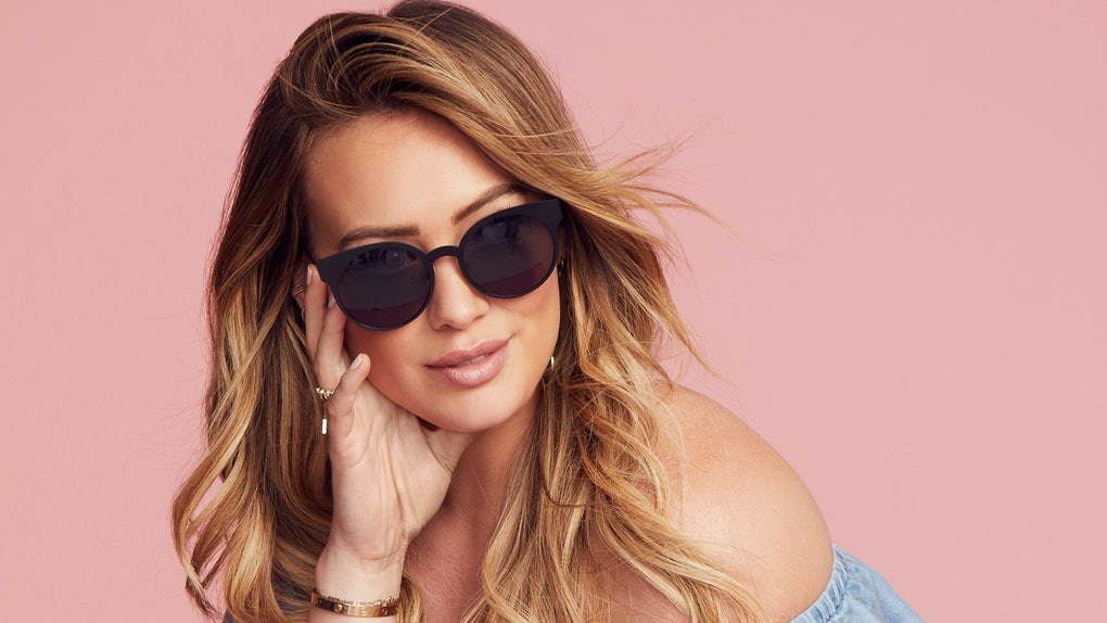 8c44be70be3 Hilary Duff Wears Glasses Instead Of Makeup   Scrubs Her Instagram Of Bad  Vibes — EXCLUSIVE