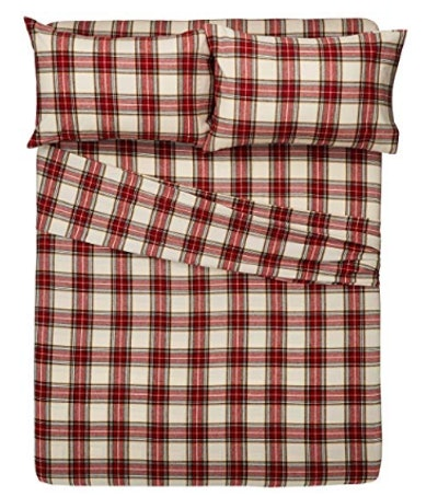 Pinzon 160 Gram Plaid Flannel Sheet Set