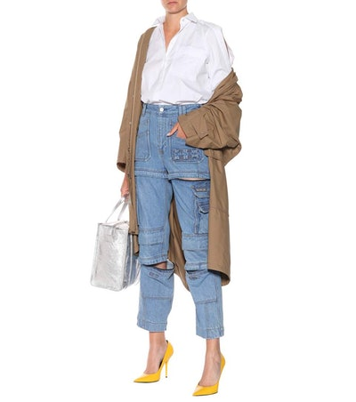 Multi-Zip High-Waisted Jeans