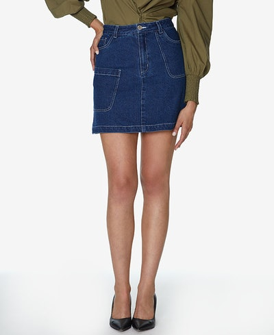 INSPR-D By Natalie Off Duty Denim Mini Skirt
