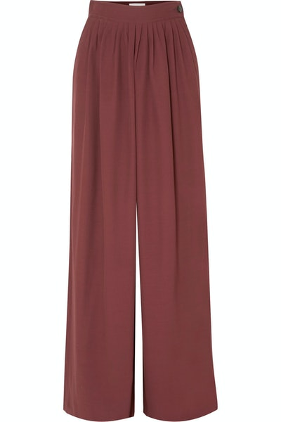 Pleated Cady Pants