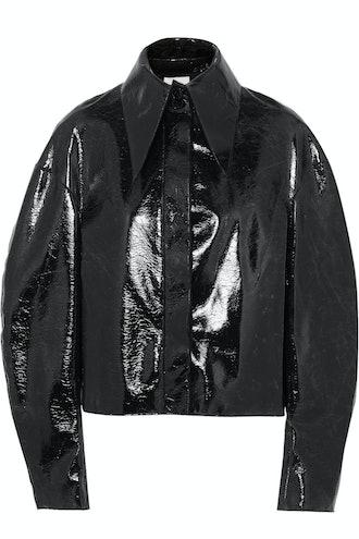 Cropped Coated Jacket