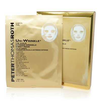 Peter Thomas Roth Un-Wrinkle 24K Gold Intense Wrinkle Sheet Mask - 6 Masks