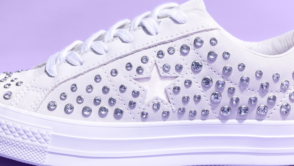 b223fb290d17b0 Converse x Opening Ceremony Rhinestone Sneakers Are Bling-Tastic