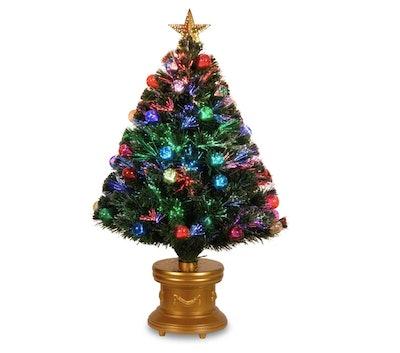 3ft LED Fiber Optic Fireworks Tree Slim with Ball Ornaments
