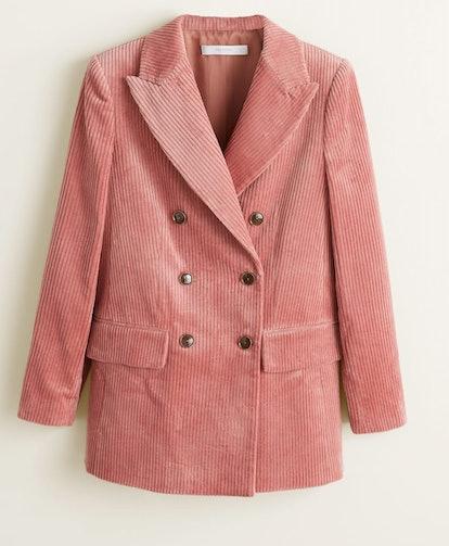 Corduroy structured blazer