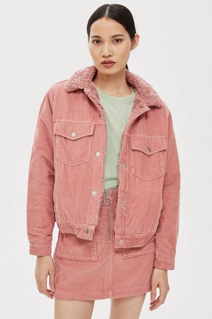 Pink Corduroy Borg Set