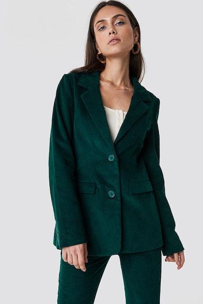 Corduroy Blazer Green