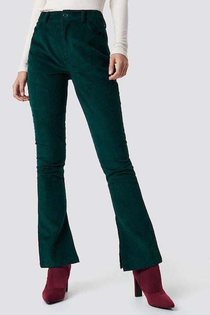 Corduroy Pants Green