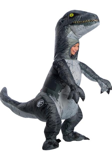 Inflatable Blue Velociraptor Jurassic World 2 Child Costume