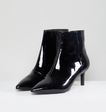 Faith Patent Ankle Boot in Black