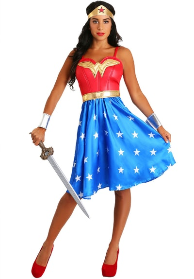 Deluxe Long Dress Wonder Woman Adult Costume