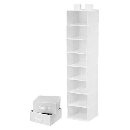 8 Shelf Organizer With 2 Drawers