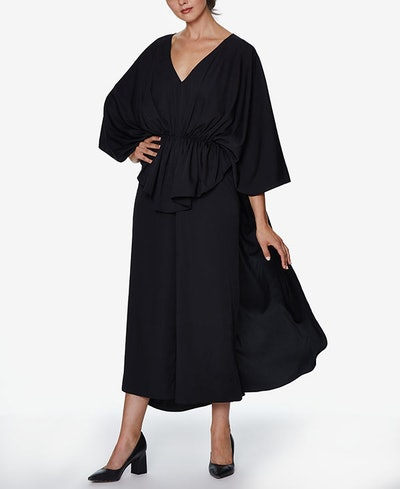 INSPR-D By Natalie Off Duty Wide-Leg Jumpsuit with Cinched Waist