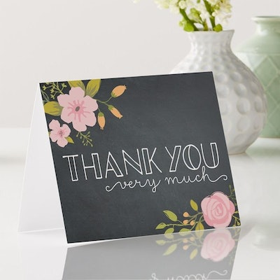 50 Thank You Cards