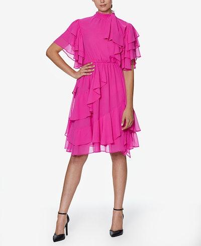 INSPR-D By Natalie Off Duty Flutter Ruffle Dress