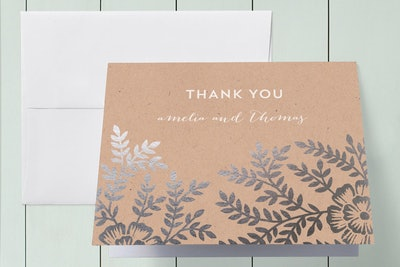 25 Thank You Cards