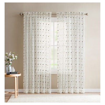 VCNY Home Valerina Rose Embroidered Curtain Panel