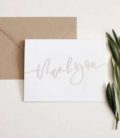 25 Classic Thank You Cards