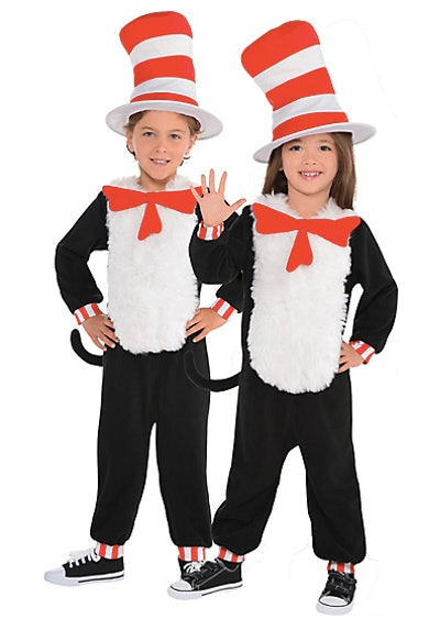 Dr. Seuss Cat in the Hat One Piece Costume