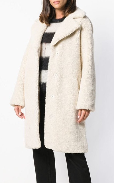 Textured Mid-Length Coat