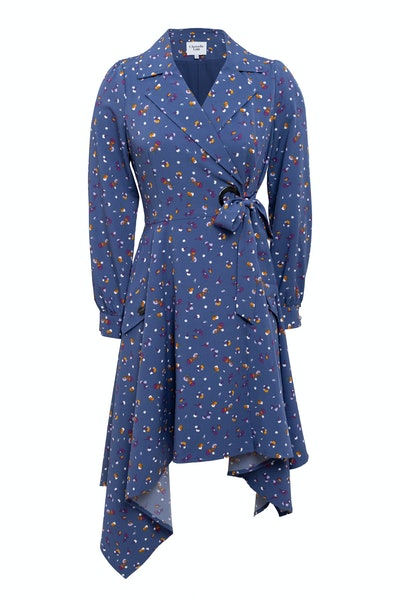 Chriselle Lim Collection Wren Floral Print Trench Dress