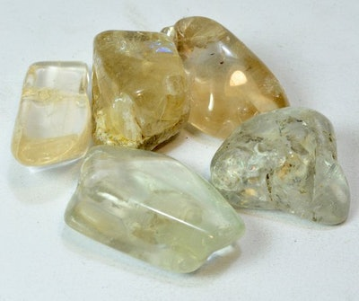 Clear Topaz Polished Natural Palm Stone