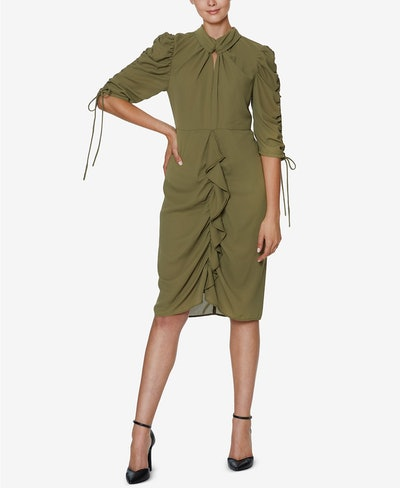INSPR-D By Natalie Off Duty Ruched Front Dress