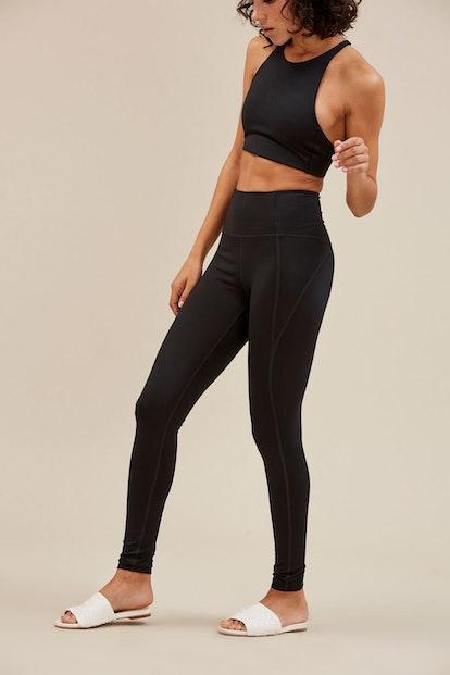 Black Compressive High-Rise Legging