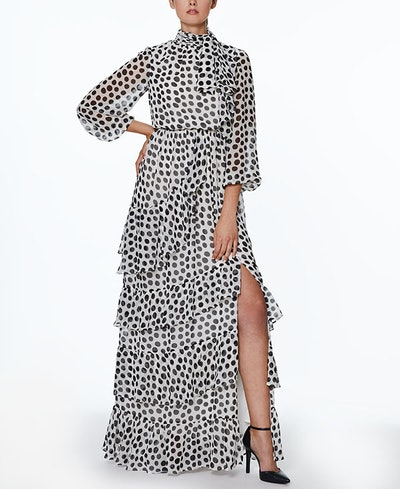 INSPR-D By Natalie Off Duty Polka Dot Maxi Dress