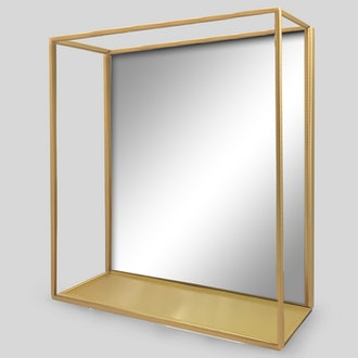 Project 62 Decorative Wall Mirror and Shelf Brass