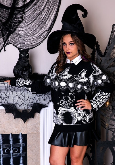 Witch Spellcraft Ugly Halloween Sweater