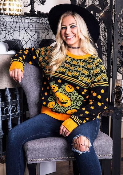 Pumpkin Patch Ugly Halloween Sweater