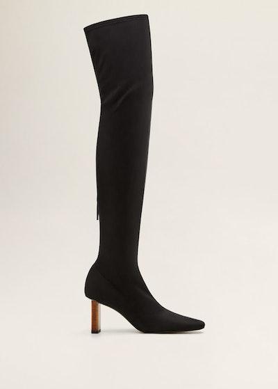Geometric Heel Boots
