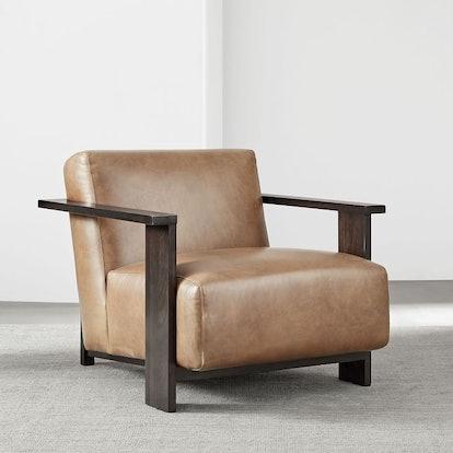 Hawthorne Show Wood Leather Chair