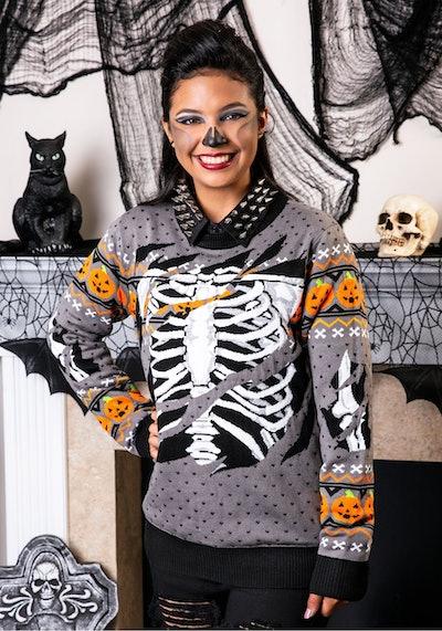 Ripped Open Skeleton Sweater