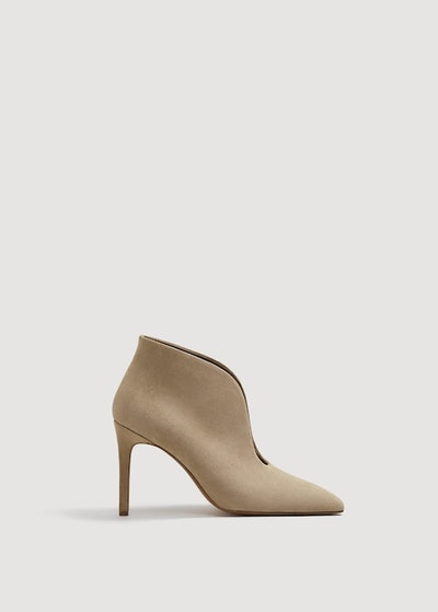 Heel Leather Ankle Boot