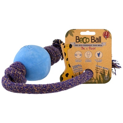 Beco Pets Eco-Friendly Dog Ball On a Rope - Large